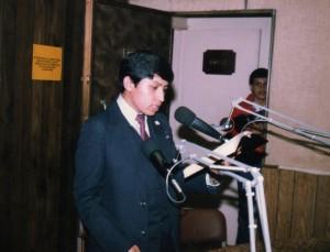 Predicando en la radio